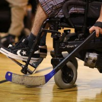 Wheelchair hockey distrofia muscolare