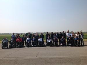 Foto di gruppo per i nostri ragazzi insieme ai piloti delle Frecce Tricolori