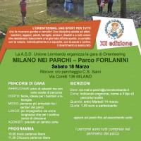 volantino gara orienteering 18.3